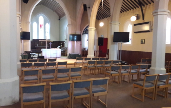 social distancing in church
