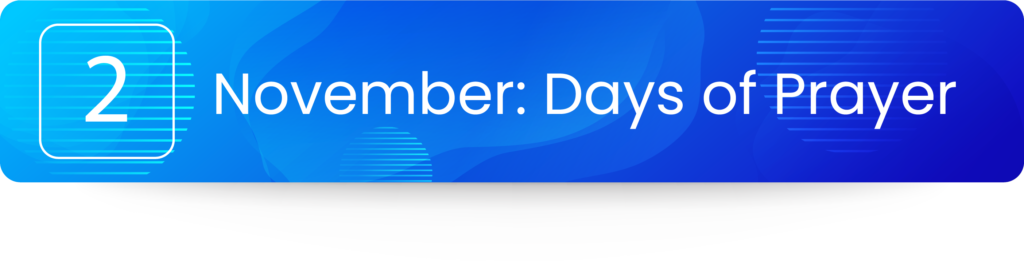 November Days of Prayer